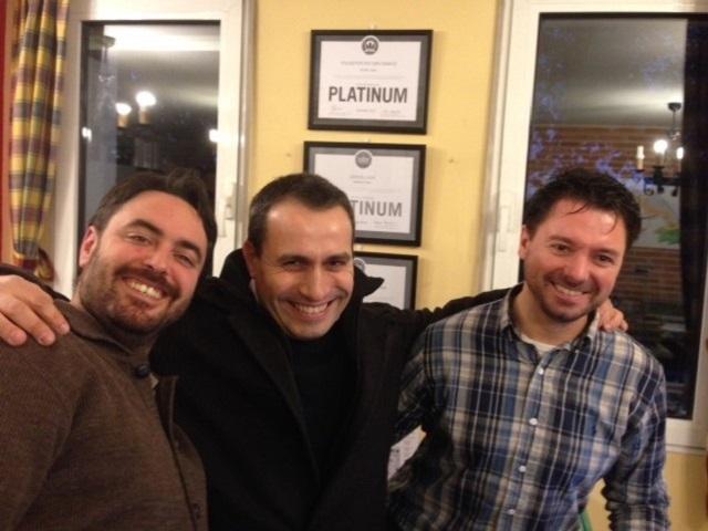 Rafael Díez, Borja Roman and Daniel